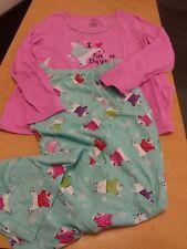 Secret Treasures Womens Pjs 2 Pc LS Sleepwear Set Sz L (12-14) Pink/Green