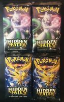 Pokemon Hidden Fates Booster Packs (4) SEALED