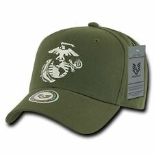 Olive US Marines Corps EGA USMC OFFICIALLY LICENSED Baseball Cap Hat