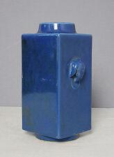 Chinese  Monochrome  Blue  Glaze  Porcelain  Vase  With  Mark     M1602