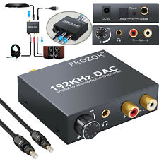 192KHZ Digital Optical To Analog DAC Audio Converter w/Bluetooth 5.0 Receiver US