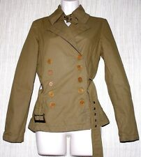 Max & CO JEANS AND BASICS Cotton MILITARY GREEN WOMEN JACKET COAT SIZE:6