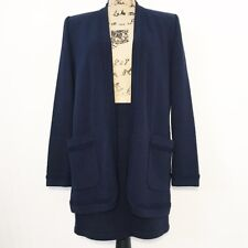 St. John Collection Navy Blue Knit Skirt Jacket 2 Piece Set