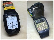 Rare Vintage Casio FTP-10 Flip Top Calculator Watch NOS NEW HTF NIB Japan