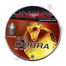 3 CONF PIOMBINI UMAREX COBRA CALIBRO 4.5 a PUNTA 500 PZ 0,56 GR ARIA COMPRESSA