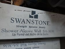 Swanstone SA-3636-010 Shower Wall with RO-3636 Shower Floor, White