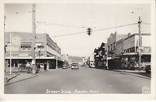 Rppc Street Scene in Auburn Washington by Ellis 76 union gas, cars stores 6810