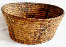 Papago 1800's grass likely willow & devils claw woven pictorial saguaro basket