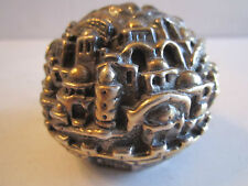 Signed Sam M. - 4.75 Oz - 925 Sterling Silver Paperweight - Judaica - Israel -