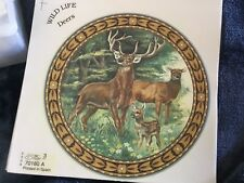 2 Ceramic Decals kiln deer buck plate doe  6""
