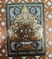 Magna Carta King John Silver Gilded Playing Cards Alex Chin Prototype New Sealed
