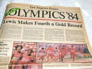 Sunday Los Angeles Times 8/11/1984~552 pg newspaper~w/ 44 pg LA OLYMPICS section