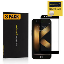 [3-Pack] Soineed Full Cover Tempered Glass Protector for Lg K20 Plus/ K10 (2017)