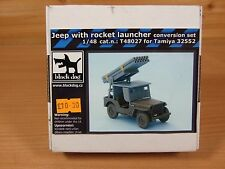 NEW IN BOX BLACK DOG1:48 SCALE JEEP WITH ROCKET LAUNCHER SET TAMIYA T48027