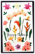 Mrs. Grossman's Vintage Tropical Flowers Photoessence Stickers Julie Cohen