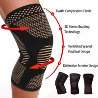 Copper Infused Knee Brace Magnetic Leg Compression Sleeve Support Pain Relief HT