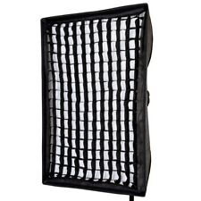 Rectangular Recessed Honeycomb Grid Portable Lightweight Softbox 60x90cm