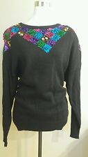 Vintange 80s Mr noah womens sequin sweater top size 42/22w