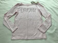 NWT CRAZY 8 MARLED PINK TOP SIZE L(10-12)-BRONZE DREAM