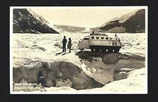 Jasper Alberta Canada 1930s RPPC 10 Seat SNOWMOBILE on Columbia Ice Field, COOL!