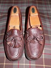 Johnston & Murphy Passport Brown Bowtie Tassel Loafers/Moccasins, Italy, Size 9M