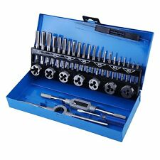 32PC PRO TAP AND DIE SET METRIC WRENCH CUTS M3-M12 BOLTS HARD CASE ENGINEERS KIT