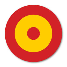 2 X SPANISH ROUNDEL CIRCLE CAR VAN LORRY VINYL SELF ADHESIVE STICKERS