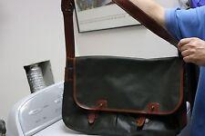 """Polo Ralph Lauren Sportsman Messenger Bag Oil Cloth Vintage 1990 18"""" x 12"""""""