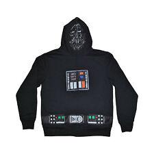 Men's Disney Star Wars Darth Vader Full Zip Sweatshirt Hooded Hoodie Costume Lrg