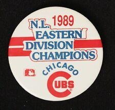 Chicago Cubs 1989 Eastern Champs Vintage Pin 3 Inch Diameter Pinback