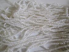 1000 Perlen 2mm Elfenbeinweiß rund  rund Dekoperlen Wachsperlen