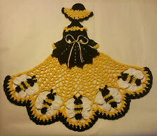 Crochet Crinoline Lady Doily - Bumble Bee