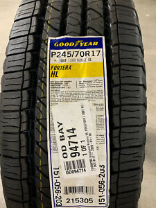 1 New 245 70 17 Goodyear Fortera HL Tire