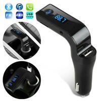 Freisprecheinrichtung Bluetooth für Auto USB Ladegerät Transmitter Radio FM P7J4
