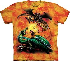 The Duel Dragons Fantasy T Shirt Child Unisex The Mountain