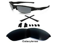 Galaxy Replacement Lenses + Rubber Kits For Oakley Flak Jacket Black