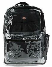 Dickies Clear Student Fashion Backpack PVC BLACK LAPTOP SLEEVE NEW