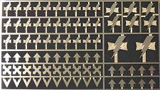 Warhammer 40,000 White Scars Space Marine Chapter & Squad Symbols Brass Etch