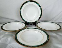 "Lenox Kelly Debut Collection Rimmed Soup Bowls 8¼"" Set of 4"