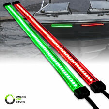 Red Green 66 LED 1-Row Marine Navigation Light Strip Kit for Kayak Pontoon Boat