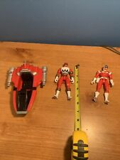 "Power Rangers 1998 Lost Galaxy 5.5"" RED ARMOR Vehicle 1997 Action Figure Bandai"