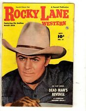 Rocky Lane Western # 31 FN Fawcett Golden Age Comic Book Cowboy Sheriff JL2