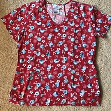 Sb Scrubs Women's Small Flower & lady Bug Scrub Top ,Nurse Medical M 5