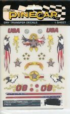 """Pinecar Freedom Forever for Racing Machine 4"""" x 5"""" Dry Transfer #P4019"""