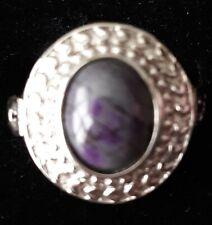 Sugilite Cabochon Gemstone - Sterling Silver Ring. Womens' Sz 7. (NEW).