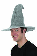 f3973b0a4c6 ADULT MENS GREY FELT GANDALF WIZARD MERLIN WITCH HOBBIT COSTUME HAT LORD OF  RING