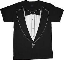 Tuxedo t-shirt Men's black tux tee shirt wedding formal tuxedo design