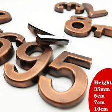 Door Plate House Hotel Number Address Digit Sticker Sign Plastic Electroplated