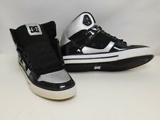 DC Shoes Men's Spartan Hi WC Sneakers, Black / Silver, US 9M, New no box