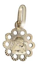 Zur Taufe - kleiner Schutzengel Anhänger Gold 585 14 Kt. Gelbgoldanhänger Engel